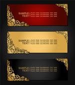 Link toThe golden pattern banner vector