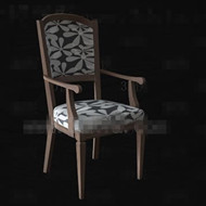 Link toThe gray and white seat wooden chair 3d model