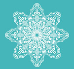 Link toThe green-and-white pattern vector