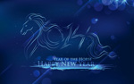 Link toThe horse new year backgrounds vector