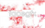 The light smoke curling up drawing flowers vector
