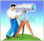 Link toThe man with binoculars vector