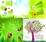 The natural breath of spring vector