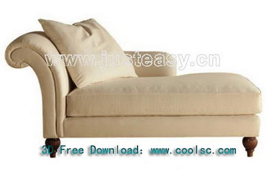 Link toThe new 3d model of classical fabric chair child (including materials)
