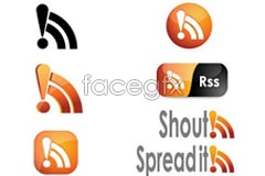 Link toThe new rss icon vector icons
