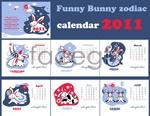 Link toThe rabbit cute calendars vector