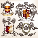 Link toThe royal coat of arms of the border vector