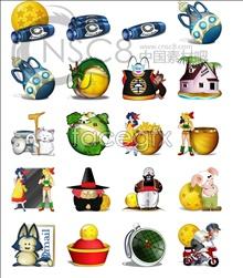 Link toThe seven dragonballs, computer icons