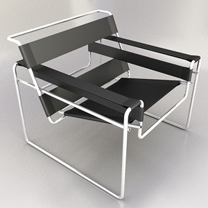 Link toThe simple modern chair model 3d model