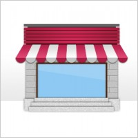 Link toThe small shops icon psd layered