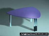 Link toThe stylish triangular plastic table 3d model