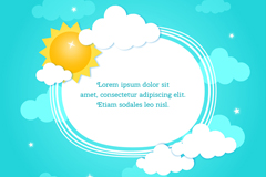 Link toThe sun and the clouds clip art vector