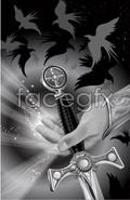 Link toThe sword vector illustration