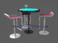Link toThe tall bar class tables and chairs combination model