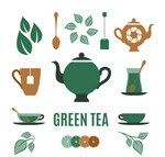 Link toThe tea element icon vector