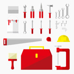 The tool icon vector