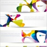 Link toThe trend of dynamic flow line banner vector