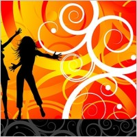 Link toThe trend of female characters silhouette vector party