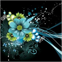 Link toThe trend of flowers vector