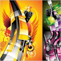 Link toThe trend of music posters pattern vector