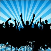 Link toThe trend of party figures silhouette vector