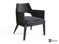 Link toThe ultra-modern black armchair 3d model