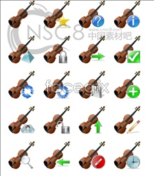 Link toThe violin computer icons