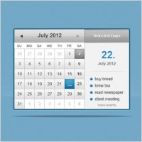 Link toThe web calenderpsd layered