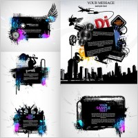 Link toTheme music silhouette vector the trend