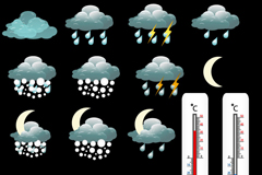 Link toThermometers and weather icon vector