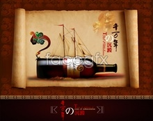 Link toThousands of years of wine advertising design psd