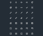 Thread icons vector