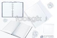 Link toThree blank notepad vector