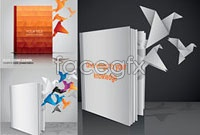 Link toThree books out of origami cranes vector