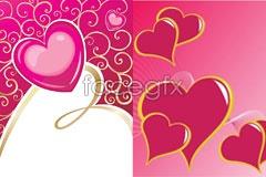 Link tovector eps hearts love cartoon Three