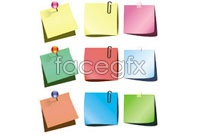 Link toThree different colors of notes, vector