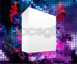 Link toThree dimensional flower background 2 vector