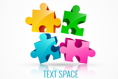 Three-dimensional puzzle piece design vector