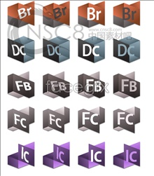Link toThree dimensional software desktop icons