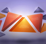 Three dimensional triangular background vector