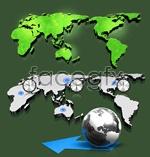 Link toThree-dimensional world map psd