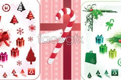 Link toThree elements of christmas vector