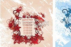 Link toThree flowers border eps vector