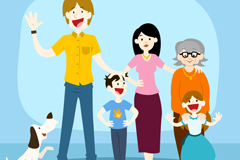 Link toThree generations of happy vector
