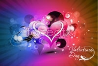 Link toThree gorgeous valentine's day background vector map