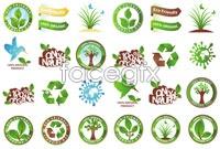 Link toThree green flag design vector map