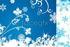 Link toThree snowflakes background element vector