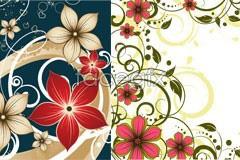 Link toThree stylish flower pattern vector