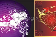 Link toThree valentine's day fashion element vector