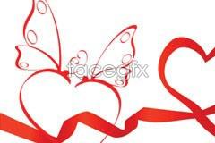 Link toThree valentine's day ribbon charity eps